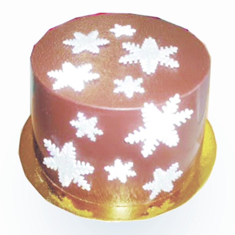holiday smash cake with snow flake designs
