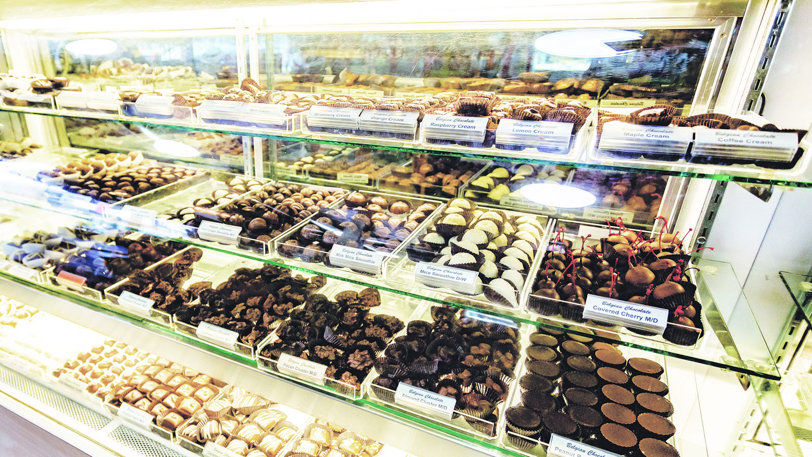 chocolate display at I love chocolate retail location