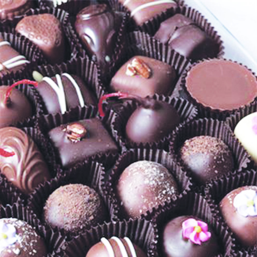 assorted Belgian chocolates
