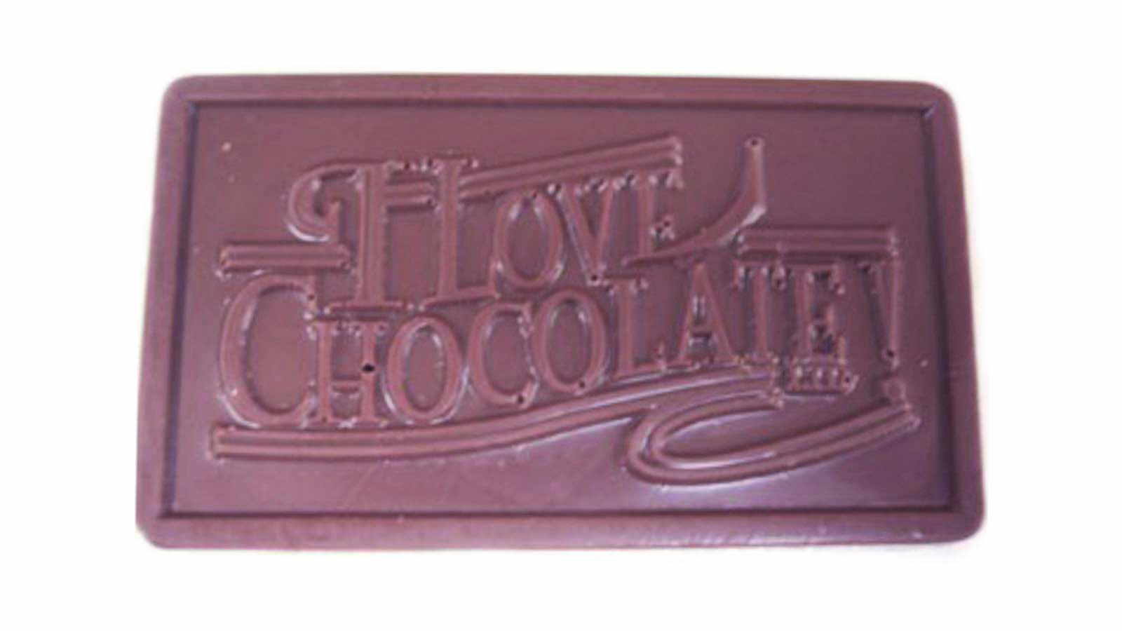 chocolate with I Love Chocolate logo